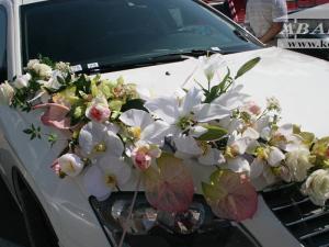 Лилии, орхидеи, антуриум, розы
